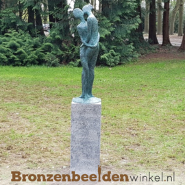 """Bronzen tuinbeeld """"Vereeuwigde Liefde"""" BBW52845br"""