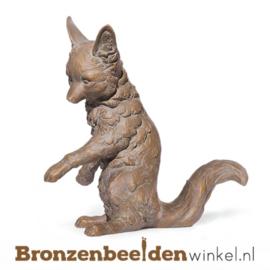 Bronzen vos beeld BBW37220
