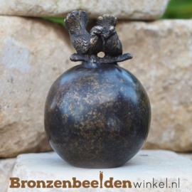 Bronzen asbeeldje met twee tortelduifjes BBW0361br