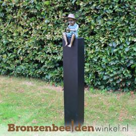 Bronzen visser als tuinbeeld BBW1819br