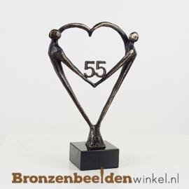 """TOP cadeau 55 jaar getrouwd """"Het Hart"""" met 55 BBW003br67"""