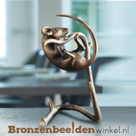 Bronzen muis beeldje BBW37072