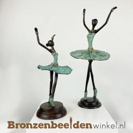 """Afrikaanse ballerina beelden set """"Groot en Klein""""  28 + 40 cm BBW009br95"""
