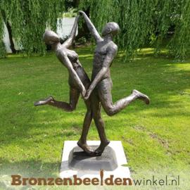 """Tuinbeeld danspaar """"De Jive"""" brons BBW57354"""