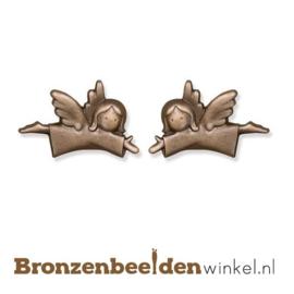 Twee kleine bronzen engeltjes BBW20696