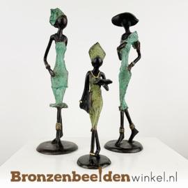 """Afrikaans kunst """"Set 3 st. (2xM-1xS)""""  BBW009br58"""