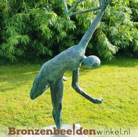 """Bronzen tuinbeeld """"Evenwicht"""" BBW52849br"""