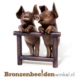 Bronzen biggetjes beeld BBW37225
