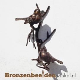 Bronzen musjes boven elkaar voor aan de muur BBW0395br