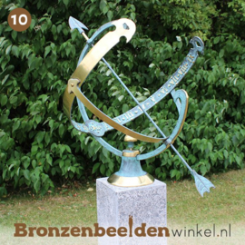 "NR 10 | 12.5 jaar getrouwd cadeau ""Zonnewijzer"" BBW0028br"
