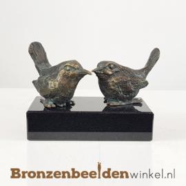Twee vogelbeeldjes op sokkeltje BBW18654br