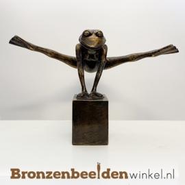 Beeld Yoga kikker in Split houding BBW1725br