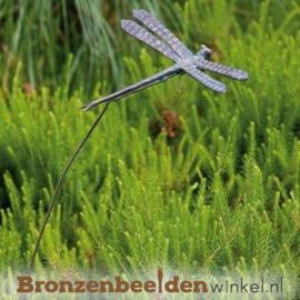 Tuinsteker libelle in brons BBWR88786