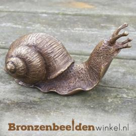 Kleine bronzen slak beeldje BBW1127br