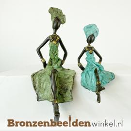 "Afrikaans beeld ""Groot en klein"" 16 + 24cm BBW009br99"