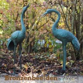 Bronzen kraanvogels spuitfiguren BBW1178