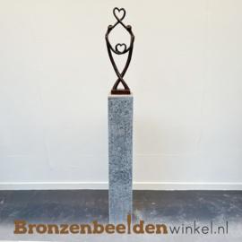 "Groot bruiloft cadeau ""Hartendieven op sokkel"" BBW007br29os"