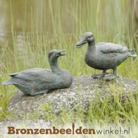Eenden paar beelden in brons BBWR88468-69
