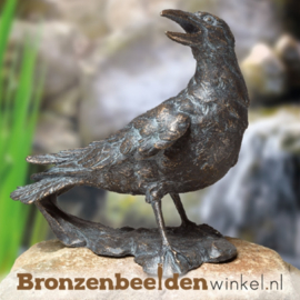 Bronzen raaf beeld BBW84227