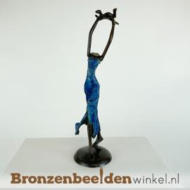 """Afrikaans moeder en kind beeld """"Blijdschap"""" 26 cm BBW009br63"""