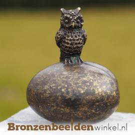 Bronzen asbeeldje met uiltje BBW0434BR