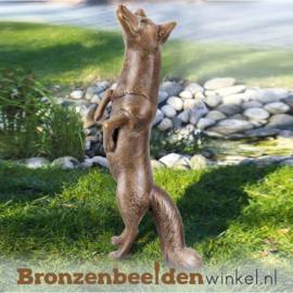 Tuinbeeld vos brons BBW37241