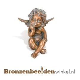 Bronzen beeldje engel BBW85386