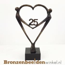 """TOP cadeau 25 jaar getrouwd """"Het Hart"""" met 25 BBW003br67j"""