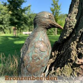Bronzen bonte specht beeld BBWR88472
