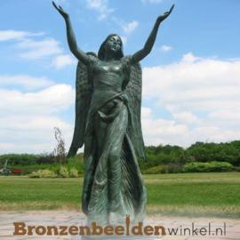 Bronzen engel met uitreikende handen BBW0094br