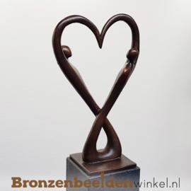 """Bruiloft kado """"Oneindige Liefde"""" op sokkel BBW007br18OS"""