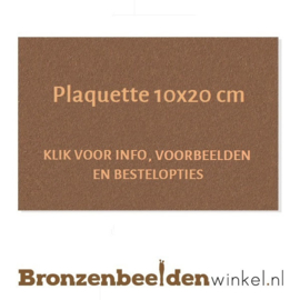 Bronzen plaquette 10x20 cm
