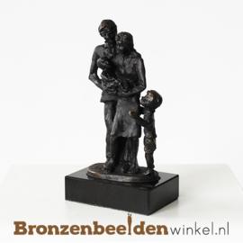 """Geboortebeeldje """"Gezin met zoon en baby"""" BBW003br15"""