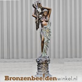 """Bronzen fontein """"De vrouw met schelp"""" BBW84059"""