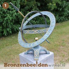 NR 1 | Cadeau vrouw 80 jaar ''Zonnewijzer met extra ring'' BBW0184br