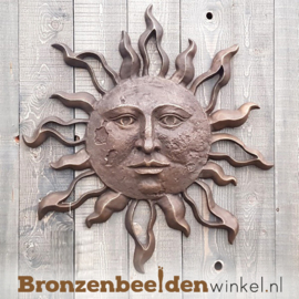 "Bronzen wanddeco ""Zon"" BBW0447BR"