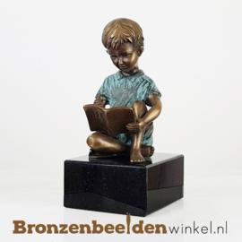 Lezend jongetje op sokkel BBW0802br