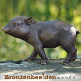 Beeld biggetje in brons BBW1377br