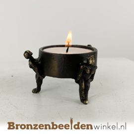 "Gedenk waxinelichthouder ""Het samen dragen"" BBW003br50"