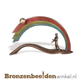 """Bronzen sculptuur """"Onder de Regenboog"""" BBW85384"""
