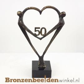 """TOP 50 jaar getrouwd cadeau """"Het Hart"""" met 50 BBW003br67"""