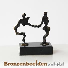 Abstract zakelijk bedank beeldje brons BBW006br13
