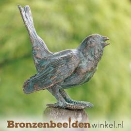 Bronzen heggenmus beeldje BBWR88247