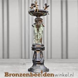 Bronzen fontein met vrouwen en engeltjes BBW8001