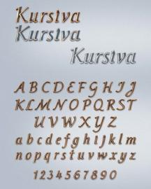 Losse letters Kursiva