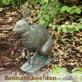 Beeld veldhaas in brons BBWR88460