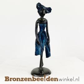 """Afrikaans beeld """"Noni"""" 16 cm BBW009br41"""