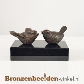 Twee vogelbeeldjes op sokkeltje BBW18655br