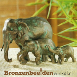 Olifanten beeldjes in brons BBWR88265