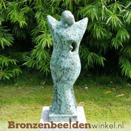 """Bronzen liefdespaar tuinbeeld  """"Genegenheid"""" BBW52215br"""
